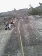 Rock Climbing Photo: step it up