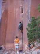 Rock Climbing Photo: Keo Bolton starts his RP of IHC.