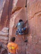 Rock Climbing Photo: Keo starting up 3AM Crack.