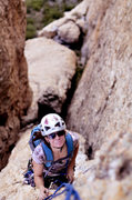 Rock Climbing Photo: Brigette with the Yo You tower beneath her on pitc...