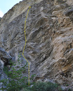 Rock Climbing Photo: This longer climb is just behind the small wall on...