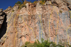 Rock Climbing Photo: Just past the Chalk Stone are several short climbs...