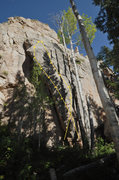 Rock Climbing Photo: This is the last of the bolts I could find at the ...