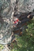 Rock Climbing Photo: At the crux yet?
