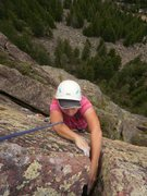 Rock Climbing Photo: Finishing up the 4th pitch.  This would be a 4 sta...
