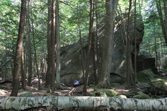 Rock Climbing Photo: Image for scale. Note Jak enjoying his lunch at th...