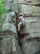 Rock Climbing Photo: Nice cracks in the lower part of the route.
