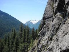 Rock Climbing Photo: View from P2 - Other Side of the Tracks