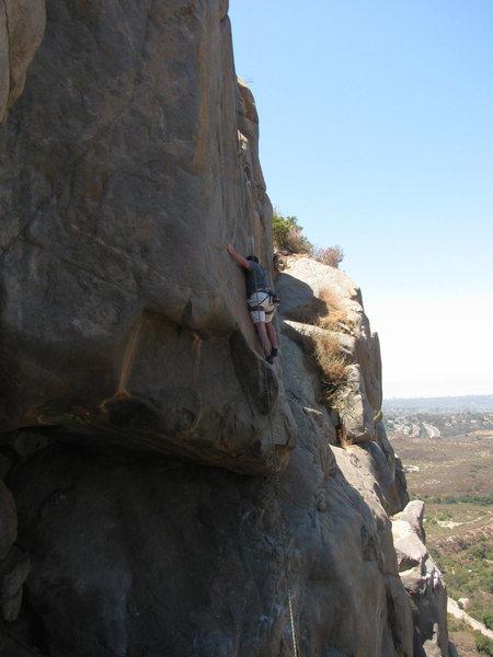 Rock Climbing Photo: fun footwork through the upper section