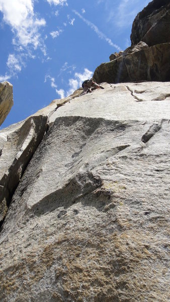 Up high on Guides Wall this weekend.  Fantastic route with mixed moderate climbing and great exposure.