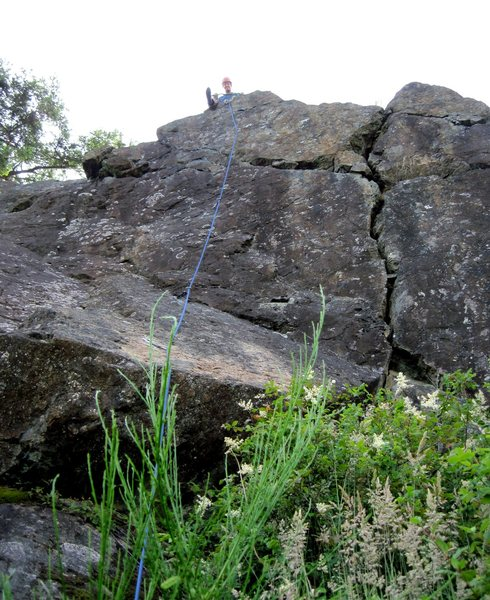 Rock Climbing Photo: Valley of Bones after FA (Thad N.) - rope is clipp...