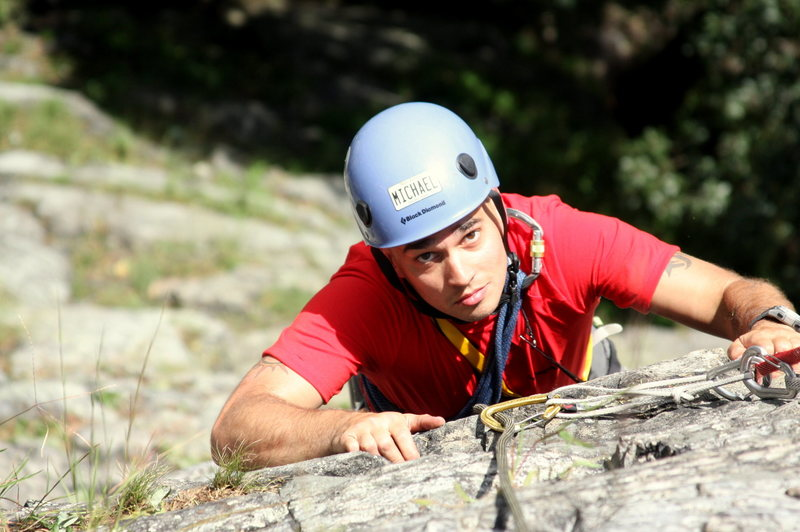 Rock Climbing Photo: Triumvirate 5.4, Mt Tammany NJ