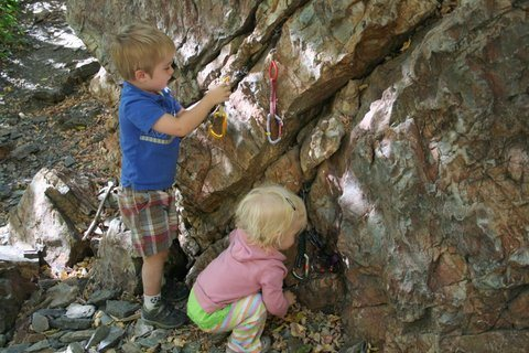 Rock Climbing Photo: Climbing with toddlers