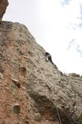 Rock Climbing Photo: Near crux move