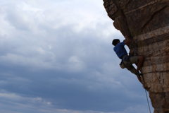 Rock Climbing Photo: Me on Steve's Arete
