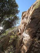 Rock Climbing Photo: Climber rappelling Jimmy Dean