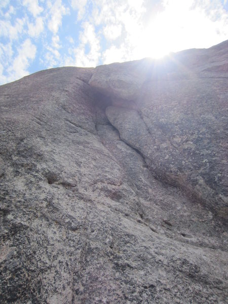 Rock Climbing Photo: Pitch 1 as seen from base of route