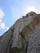 Rock Climbing Photo: Climber on pitch 2