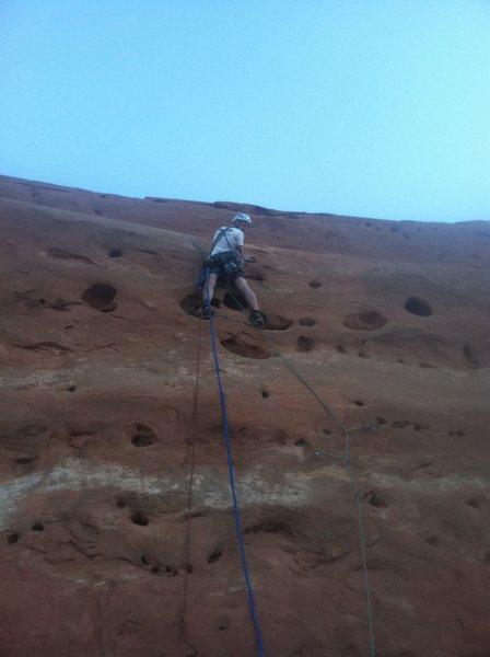 Rock Climbing Photo: Ben on p1.