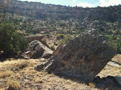 Rock Climbing Photo: The north view of the Reecy's Pieces Boulder.