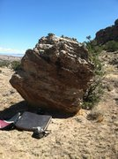 Rock Climbing Photo: South side of Reecy's Pieces Boulder.