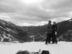 Rock Climbing Photo: My wife and I at the lookout on top