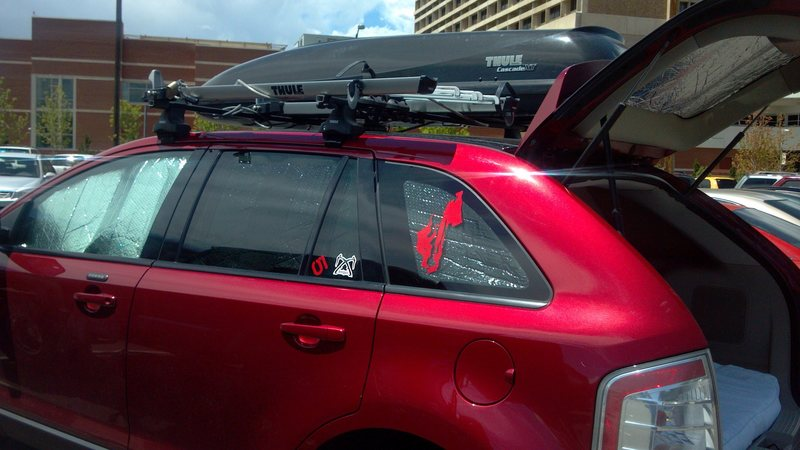 Bike rack and air box