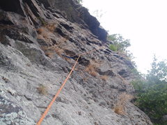 Rock Climbing Photo: The nice direct line of the High Falls-Drifting Ar...