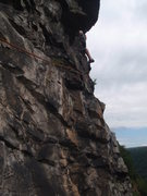 Rock Climbing Photo: View of the traverse pitch from the belay.