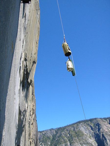 Rock Climbing Photo: Hauling