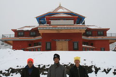 Rock Climbing Photo: Wamshu,Haba & Hum, the Bhutanese carvers flown in ...