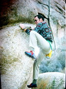 Rock Climbing Photo: Now that's style
