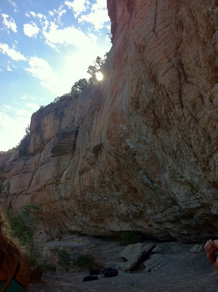 Rock Climbing Photo: Morning sun on the Shady Side Left.