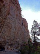 Rock Climbing Photo: Nearing the top of Bandit.