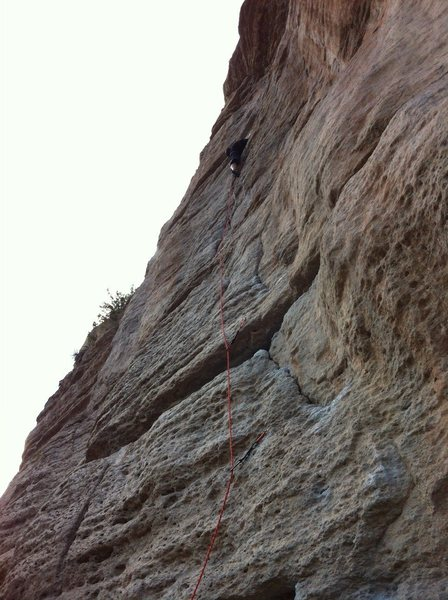 Rock Climbing Photo: Nearing the chains on Warm Up.
