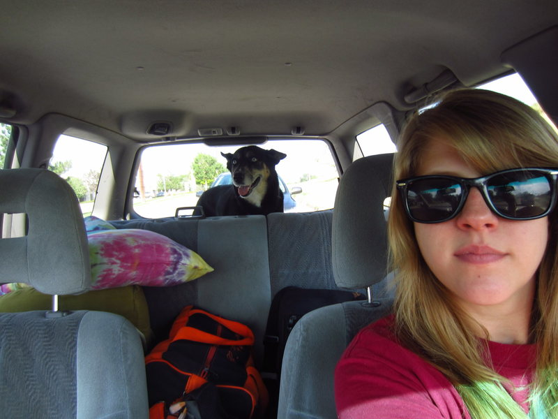 Heading up to camp/climb Torreys with LUCY!