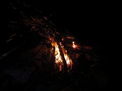 Rock Climbing Photo: camp fire!