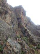 Rock Climbing Photo: Right side of the crag as you are facing uphill.