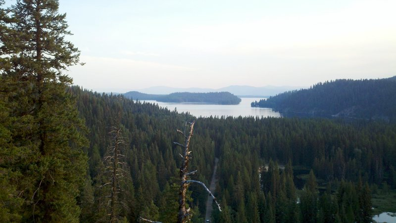View from the top of thinking spot. Looking out at Payette Lake