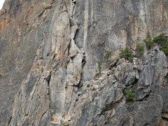 Rock Climbing Photo: Climber on p.2 of the Beckey Route. Photo from Con...