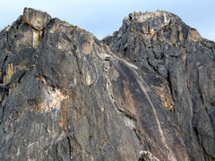 Rock Climbing Photo: Climbers on p4. Photo from Concord Tower.