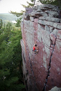 Rock Climbing Photo: Andrew Reinke sending Flake Route in good style.