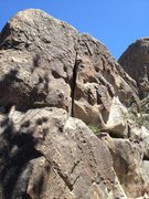 Rock Climbing Photo: Dave's crack. 5.7 direct face start, 5.6 the ramp ...