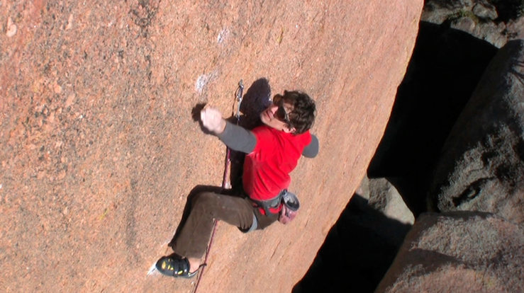 Barracuda (Enchanted Rock State Natural Area, Texas) ascent after 10 years of dreaming and thinking i could never climb 5.12+ granite face.  Footwork... check.