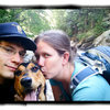 The fam.  Erin and Sadi.  Loving Dream Canyon, Boulder, CO.