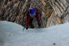 Rock Climbing Photo: Easy start of Kerkeslin Falls AB
