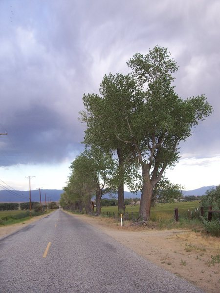 Rock Climbing Photo: Driving out from Pine Creek area, CA