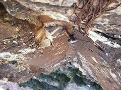"Rock Climbing Photo: Tybo following ""The Misunderstanding""."