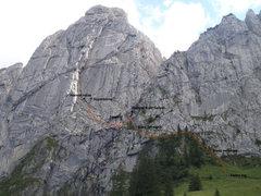 Rock Climbing Photo: Bockmattli Grosser Turm approach.  After the scram...