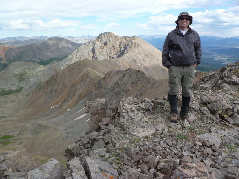 Rock Climbing Photo: On unnamed 13,505'.